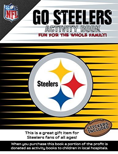 NFL Pittsburgh Steelers Activity Book/Yellow/Black/One Size