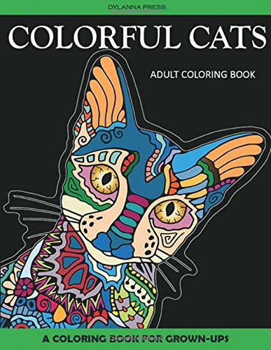 9781942268284: Colorful Cats Adult Coloring Book: A Coloring Book for Grown-Ups (Adult Coloring Books, Coloring Pages for Grown-Ups) (Volume 4)