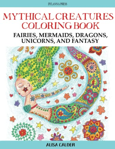 9781942268345: Mythical Creatures Coloring Book: Fairies, Mermaids, Dragons, Unicorns, and Fantasy (Adult Coloring Books) (Volume 9)