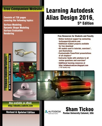 9781942689119: Learning Autodesk Alias Design 2016, 5th Edition