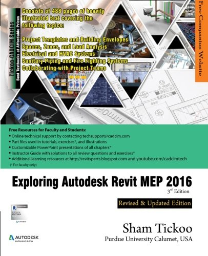 9781942689140: Exploring Autodesk Revit MEP 2016, 3rd Edition