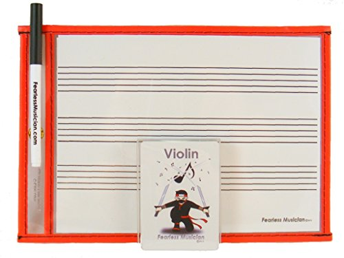 9781943579266: Fearless Musician Music Flashcards and Music Notation Activity Kit for Violin