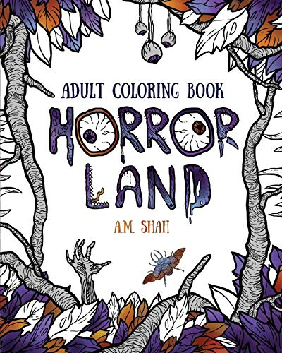 9781943684625: Adult coloring book: Horror Land