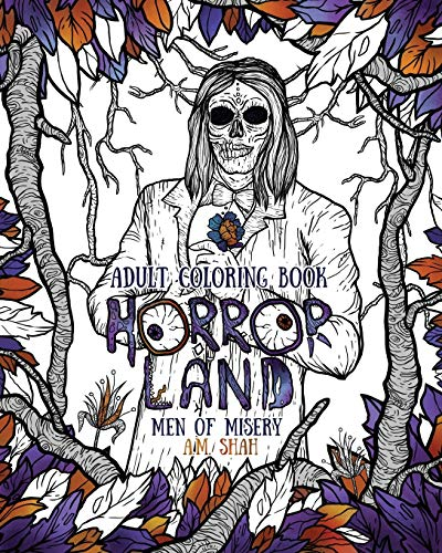 Adult Coloring Book Horror Land: Men of: Shah, A.M.
