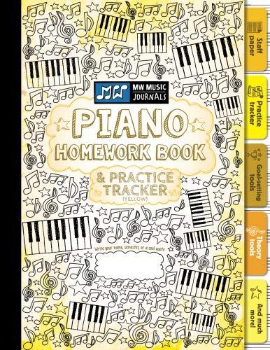 Piano Homework Book and Practice Tracker (Yellow): Meridee Winters