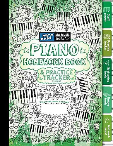 Piano Homework Book and Practice Tracker (Green): Meridee Winters