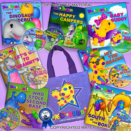 9781943836475: Dino-Buddies Complete Series Read-Along Set To-Go (7 Books +7 CDs +Tote Bag)