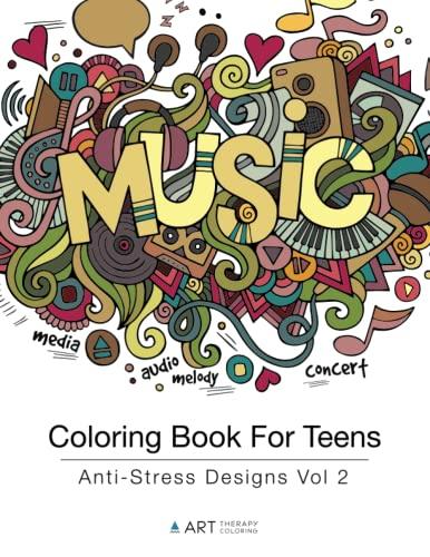 9781944427177: Coloring Book For Teens: Anti-Stress Designs Vol 2 (Volume 2)