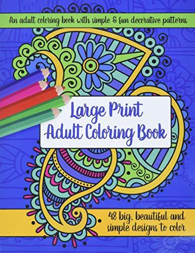 9781944633271: Large Print Adult Coloring Book: Big, Beautiful & Simple Designs