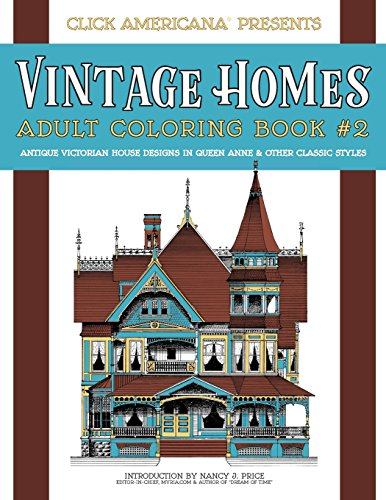 Vintage Homes Adult Coloring Book Antique Victorian