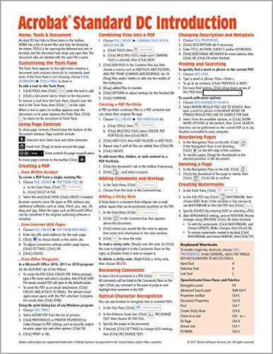 Adobe Acrobat Standard DC Introduction Quick Reference Guide (Cheat Sheet of Instructions, Tips &...
