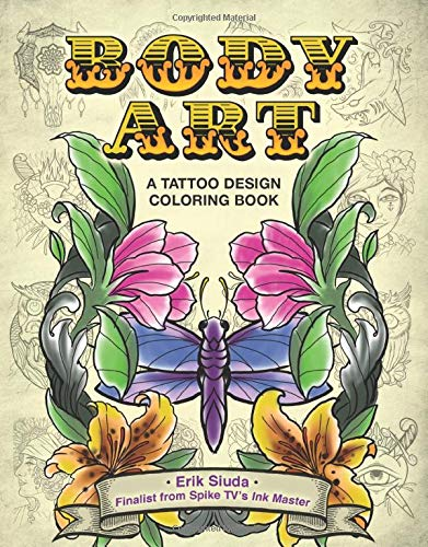 9781944686871: Body Art: A Tattoo Design Coloring Book
