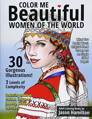 9781944845001: Color Me Beautiful, Women of the World: Adult Coloring Book