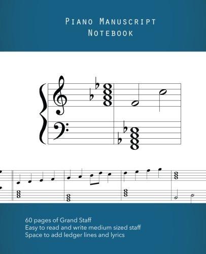 9781945599019: Piano Manuscript Notebook