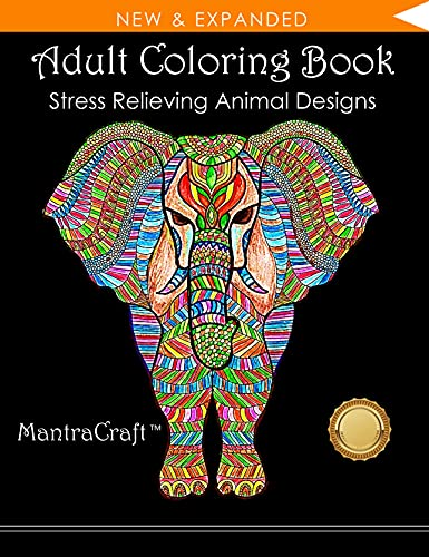 9781945710797 Adult Coloring Book Stress Relieving Animal Designs