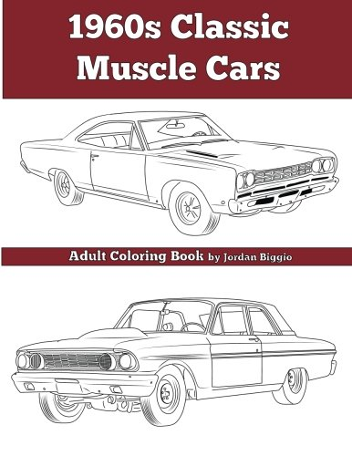 9781945803055: 1960's Classic Muscle Cars: An Adult Coloring Book