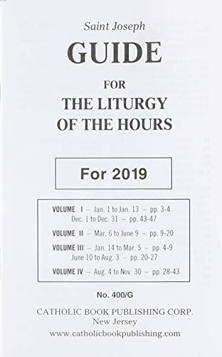 9781947070301: Saint Joseph Guide for the Liturgy of the Hours: For 2019