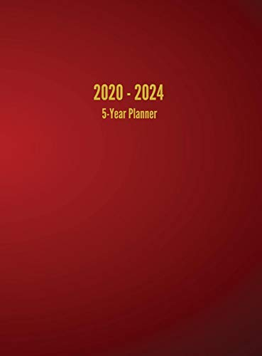 9781947399143: 2020 - 2024 5-Year Planner: 60-Month Calendar (Red)