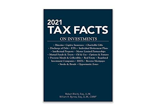 9781949506884: 2021 Tax Facts on Investments