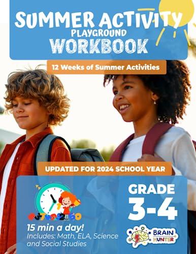 9781951048198: Summer Activity Playground Grade 3-4: 12 Weeks of Summer Activities - Math, ELA, Science, Reading and Social Studies