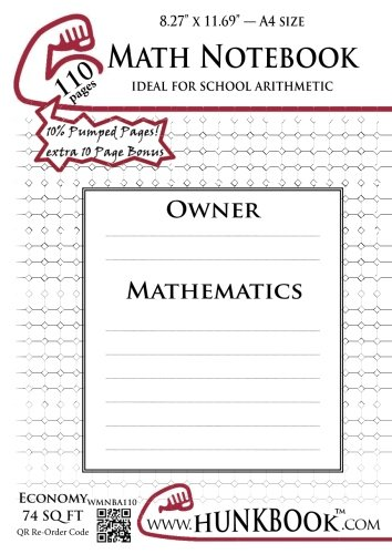 Math Notebook (WMNBA-110 pages): A4 Sheet: Hunkbook, Mighty