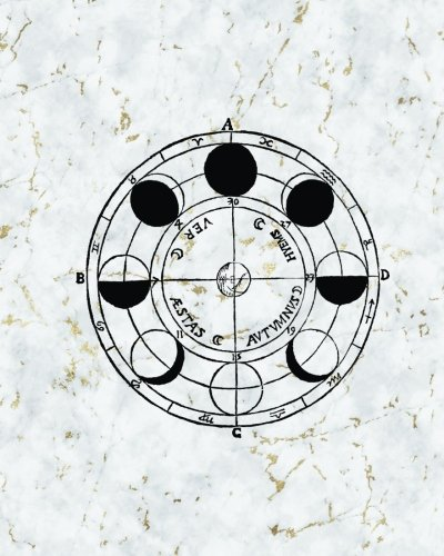 Vintage Astronomy Marble Bullet Journal: Moon Phases Dot Grid Dotted 8 x 10 Notebook, Sketchbook ...