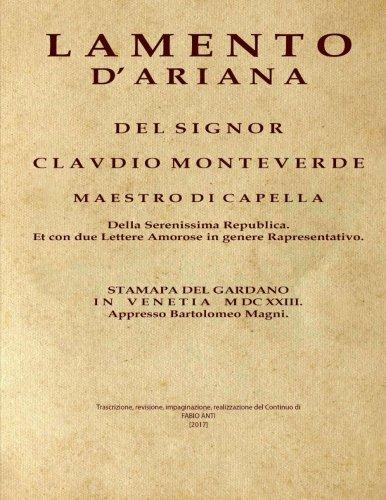 Monteverdi Claudio (1567-1643) - Lamento d'Arianna et: Anti, Fabio