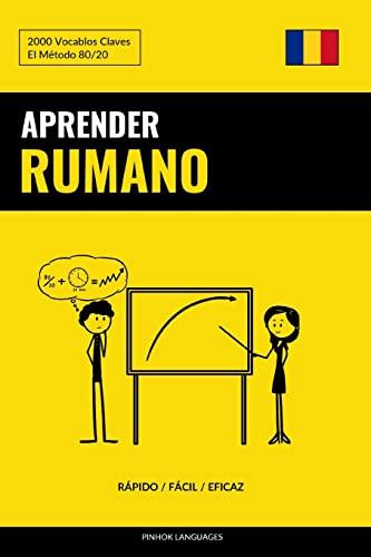 9781974685417: Aprender Rumano - Rápido / Fácil / Eficaz: 2000 Vocablos Claves