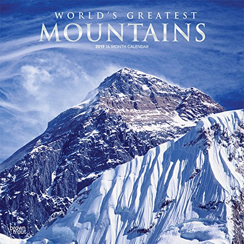 World's Greatest Mountains 2019 12 x 12: Inc.,BrownTrout Publishers
