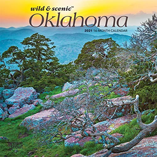 9781975425623: Oklahoma Wild & Scenic 2021 7 x 7 Inch Monthly Mini Wall Calendar, USA United States of America Southwest State Nature