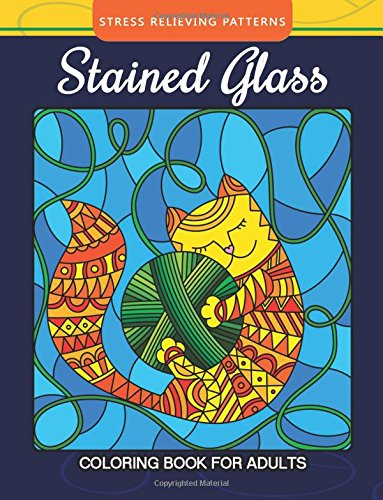 Stained Glass Coloring Book For Adults Stress: Mindfulness Coloring Artist,