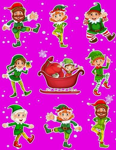 Christmas Holiday Sticker Album Dancing Elves: 100: Journals, Fat Dog