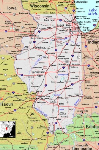 9781976079382 - Journal, Map Lovers: The Map of the State of Illinois Journal: Take Notes, Write Down Memories in This 150 Page Lined Journal - Bok