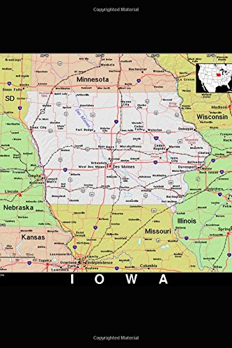 9781976079399 - Journal, Map Lovers: The Map of the State of Iowa Journal: Take Notes, Write Down Memories in This 150 Page Lined Journal - Bok