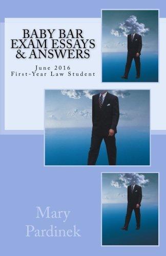 Baby Bar Exam Essays & Answers: June: Pardinek, Mary T