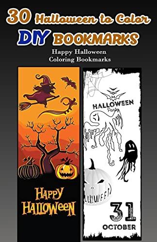 30 Halloween to Color DIY Bookmarks: Happy Halloween Coloring Bookmarks: V Bookmarks Design