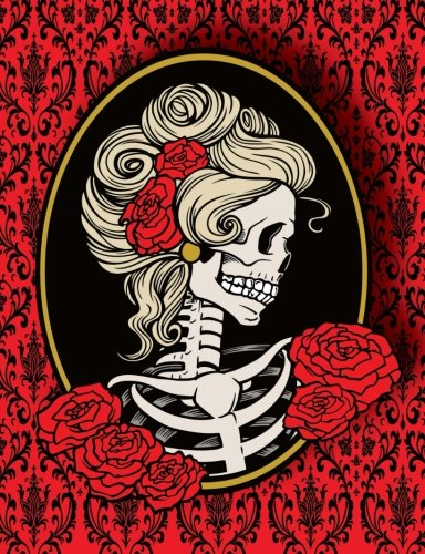 Lady Skeleton Cameo Composition Notebook College Rule: Images, CeyMor Digital