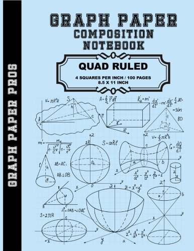 graph paper composition notebook quad ruled 4 squares per inch