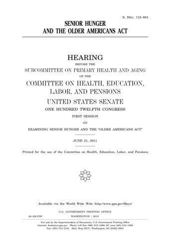 9781977874368: Senior hunger and the Older Americans Act
