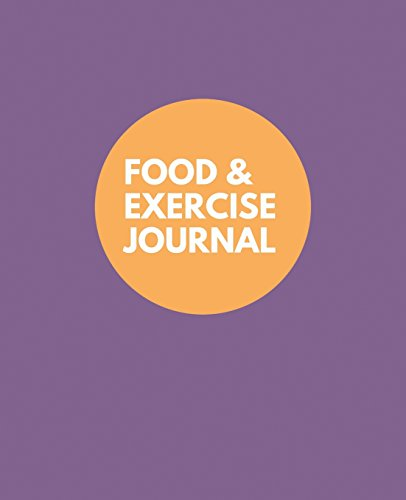 Food and Exercise Journal: Purple Cover Design,: Health Journals