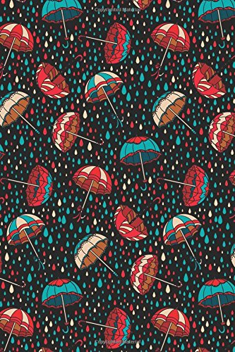 Journal Notebook Umbrellas in the Rain Pattern: Tree, Journal
