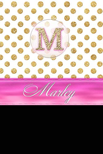 """Marley: Personalized Lined Journal Diary Notebook 150 Pages, 6"""" x 9"""" (15.24 x 22.86 cm), ..."""