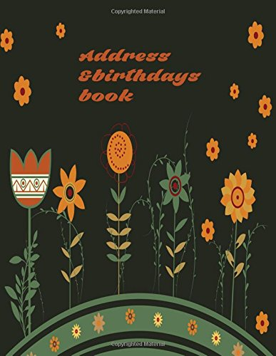 Address And Birthdays Book: Big Print Extra Large Address Logbook, At A Glance Phone Numbers, With ...