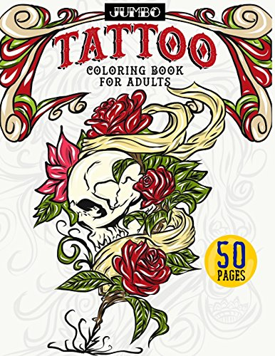 9781979380683 Jumbo Tattoo Coloring Book for Adults Large