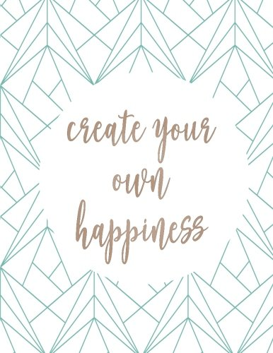 Create Your Own Happiness: Gratitude Quote Journal,: Moon Journal