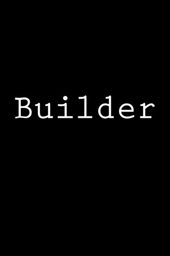 9781979538015: Builder: Notebook