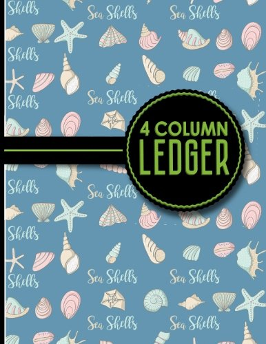 4 Column Ledger: Appointment Book, Accounting Ledger For Kids, Business Ledger Book, Cute Sea ...
