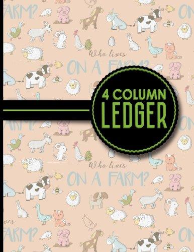 4 Column Ledger: Record Book, Accounting Note: Publishing, Moito
