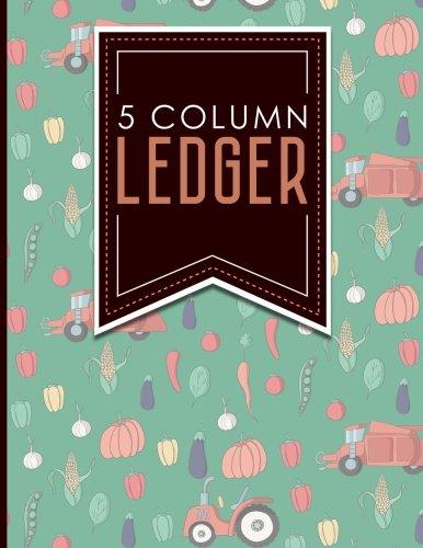5 Column Ledger: Ledger Pad, Accounting Ledgers: Moito Publishing