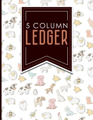 5 Column Ledger: Cash Book, Accounting Ledger: Moito Publishing